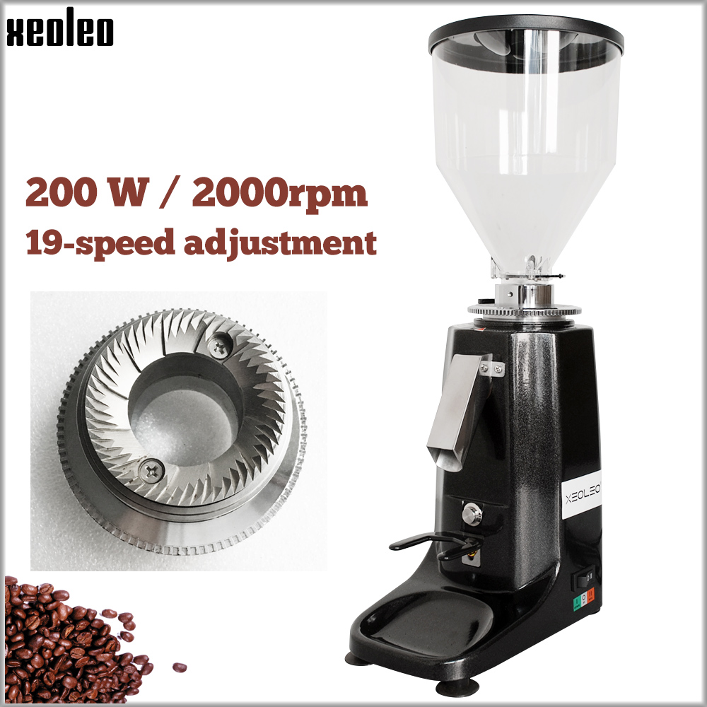 XEOLEO Professional Turkish Coffee Grinder Aluminum Electric Coffee Miller 200W Espresso Coffee Milling Machine Black/Red