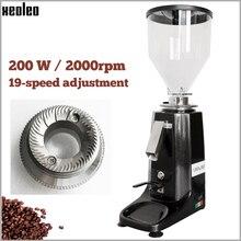 XEOLEO molinillo de café turco profesional, molino de café eléctrico de aluminio, máquina de café expreso de 200W, negro/rojo