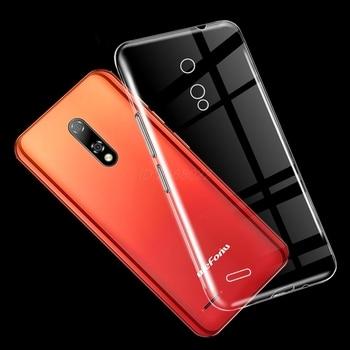 Перейти на Алиэкспресс и купить Прозрачный чехол для телефона Ulefone Note 8P задняя крышка 5,5 мягкий черный чехол ТПУ с закаленным стеклом для Ulefone Note 8P чехол Vetro