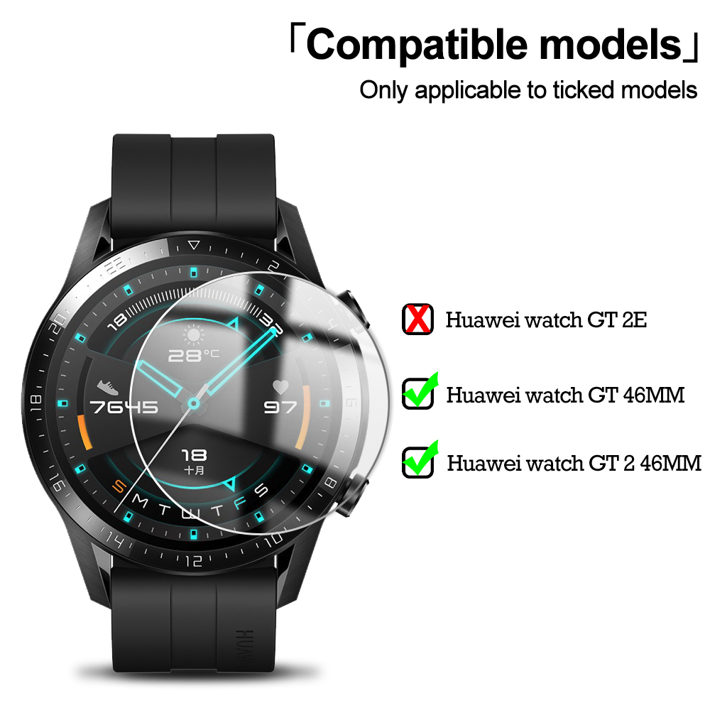 9H Premium Tempered Glass For Huawei Watch Gt GT 2 46mm Smartwatch Screen Protector Explosion-Proof Film Accessories 5