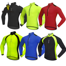 цена на WOSAWE Summer Men's Cycling Jersey Long Sleeve MTB Outdoor Sports Thin Jacket Maillot Bike Riding Cycle Shirts 4 Colors Clothes