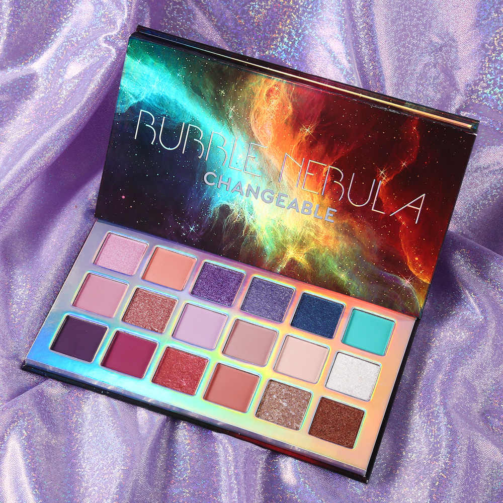 Ucanbeバブル星雲 18 カラーアイシャドウパレットヌード目化粧見事なマルチ反射パウダーシマーグリッターアイシャドー