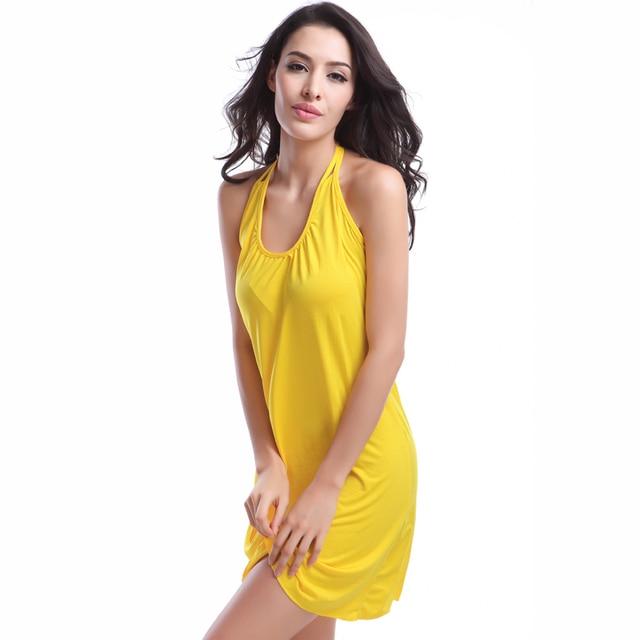 2019 Popular Victoria Design Hot Wholesale Double Spaghetti Straps O Neck Matches Bikini Cover Up Dress Beach S.M.L.XL 8