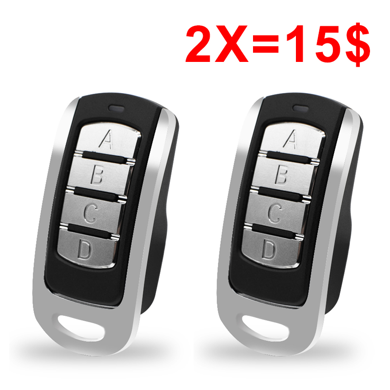 2pcs Remote Control Multi Frequency Duplicate 300-900mhz 4 Channel Command Handzender Garage Door Opener Gate Key Fob