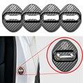 4 шт., автомобильный дизайн отделка дверного замка защитная крышка, логотипы марок машин, чехол для Toyota 86 C-HR avensis auris hilux Corolla Camry RAV4
