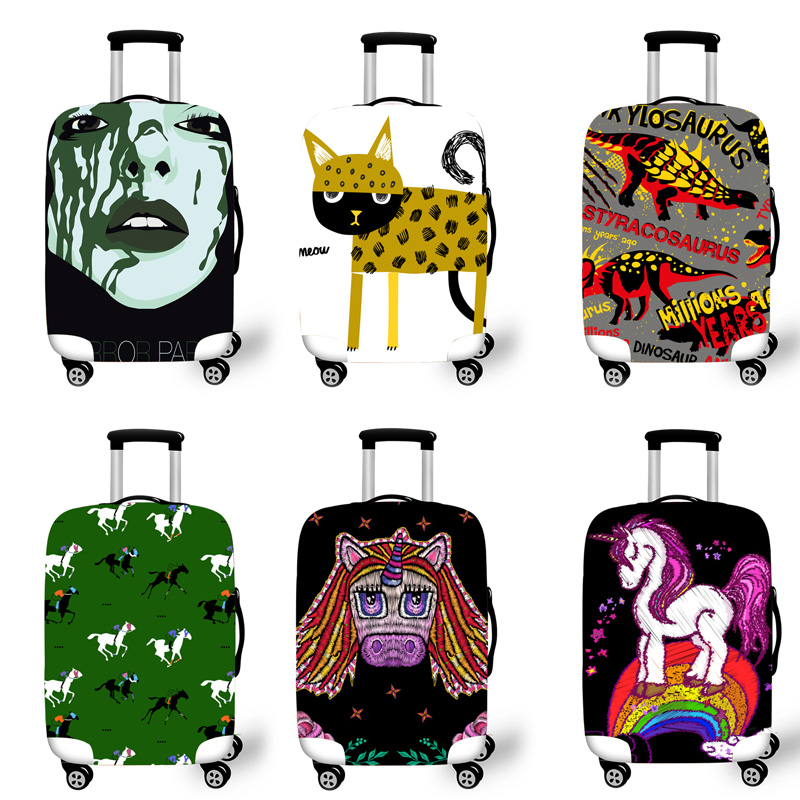 Elastic Luggage Protective Cover Case For Suitcase Protective Cover Trolley Cases Covers 3D Travel Accessories Pony Pattern T162