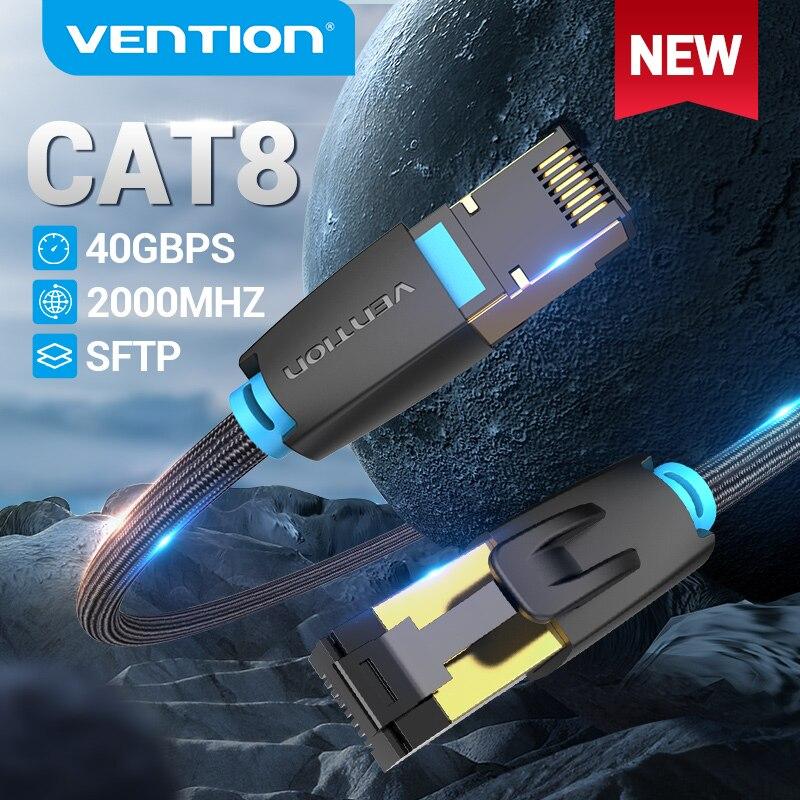 Vention Cat8 Ethernet кабель 40 Гбит/с Cat 8 сетевой нейлоновый Плетеный Интернет сетевой патч-корд для роутера модема ПК RJ 45 Ethernet кабель