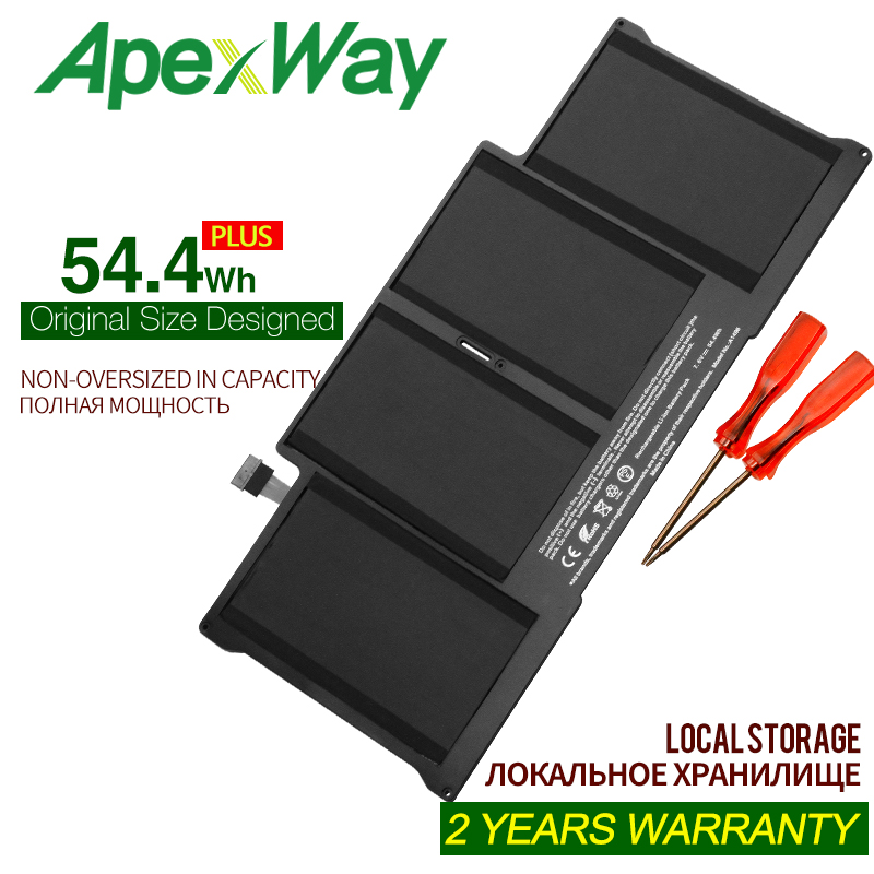 ApexWay 7.6V 54.4Wh A1496 A1466 Laptop Battery For Apple MacBook Air 13