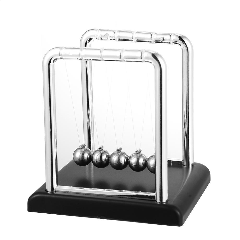 Креативный декоративный Бильярд Ньютон сбалансированные шары металлические поделки черная основа Бытовая Физика Наука Маятник Ньютона