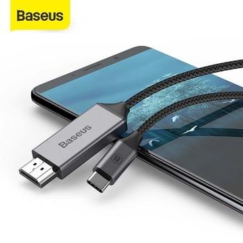 Usb type C-HDMI кабель Baseus для Huawei P20 mate 20 Pro usb C к HDMI сплиттер для MacBook samsung Galaxy S8 S9 адаптер