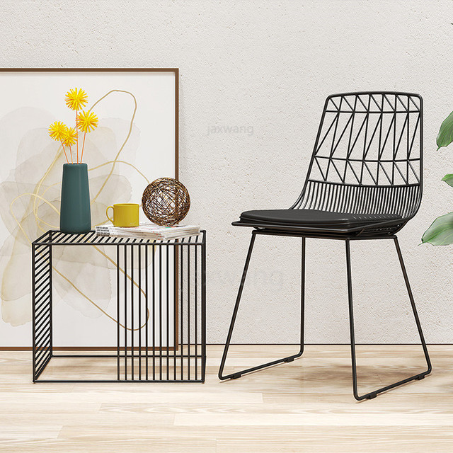 Metal Chair & Side Table
