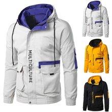 2021 outono e inverno nova jaqueta masculina tendência roupas casuais jovens solto com capuz jaqueta de outono na moda homem bonito