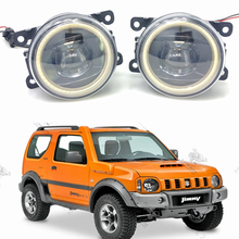 For Suzuki Jimny FJ Closed Off-Road Vehicle 1998-2014 Car styling New Led Fog Lights 30W DRL Angel Eyes Lamp 2pcs