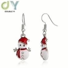 Рождественские серьги Снеговики модные милые кукольные серьги подарок