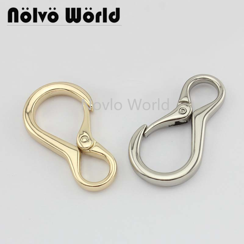4 Pieces Test, 3 Colors 49.5*10mm Metal Bag Buckle Dog Collar Buckle Chain Clasps Lobster Swivel Snap Hook Buckle Accessories