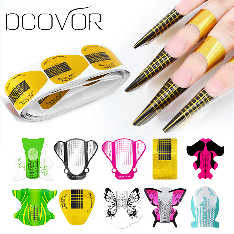 Dcovor Builder-Form-Guide Extension Manicure-Tools Uv-Gel-Tips 100pcs