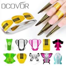 Dcovor инструменты для нейл-арта, Удлинительный УФ-гель, советы для наращивания, форма для наращивания ногтей, трафарет, инструменты для маникюра