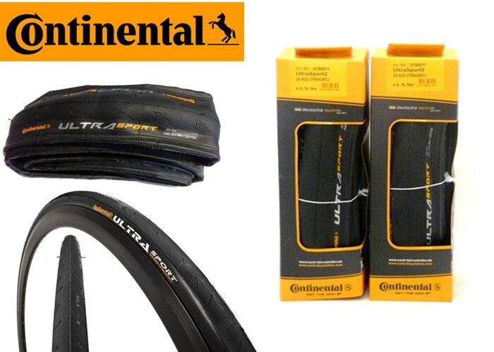 New 2018 Continental Ultra Sport II Black//Red 700x23C Folding Clincher Bike Tire