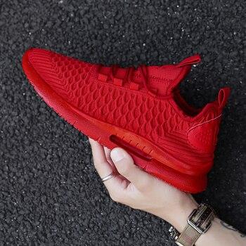 أحذية رياضية للرجال أحذية تنس أحذية رياضية تينيس دي هومبر باللون الأحمر تينيس للرجال أحذية رياضية للمدربين ديبورتيفاس حذاء للجيم للرجال