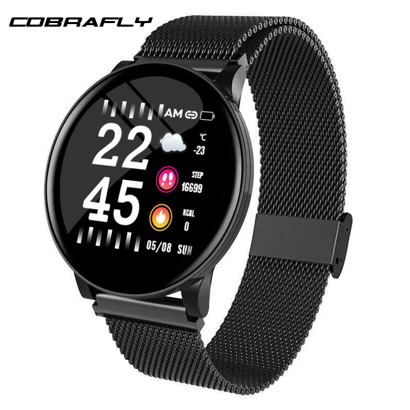 Cobrafly Smart Watch Women Blood Pressure Heart Rate Touch Screen Smartwatch Lady Waterproof Watch Sport For Android IOS Xiaomi
