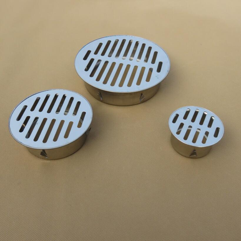 Stainless Steel Balcony Roof Round Large Displacement Anti-blocking Floor Drain Outdoor Plane Insertion Floor Drain