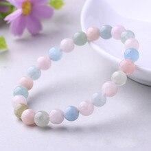 Natural Morgan Stone Bracelet  Fashion Colorful Crystal Jewelry Manufacturer Wholesale stone bracelets for women