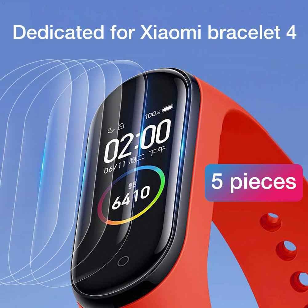 1/5 pièces Film Protecteur Pour Xiao mi mi Bande 4 Bracelet Intelligent Bracelet Protecteur Plein Écran Hydrogel Film Verre Trempé