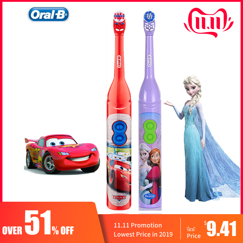 Kids Electric Toothbrush Oral B For Children's Oral Teeth Hygiene With 7200 Times Rotation Vibrator Disney Cartoon Images Oral b-in Electric Toothbrushes from Home Appliances