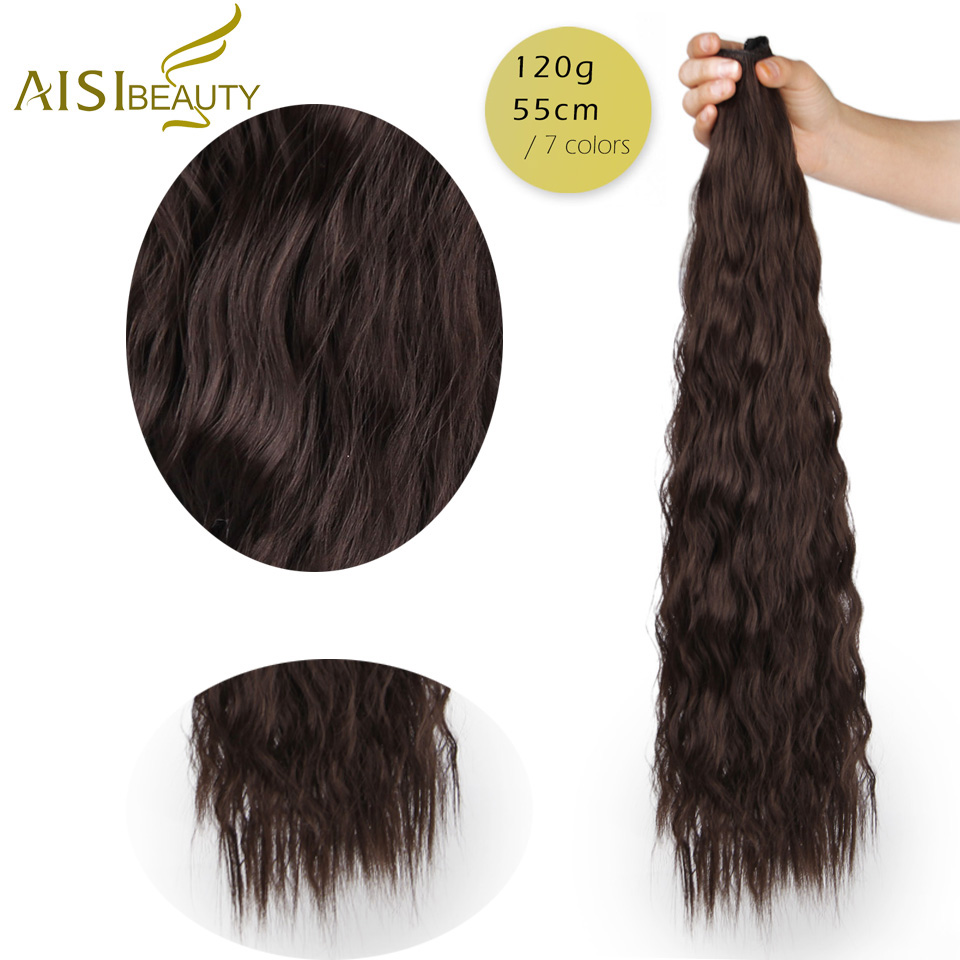 ALI shop ...  ... 32840522443 ... 3 ... AISI BEAUTY Long Clips in Hair Extension Synthetic Natural Hair Water Wave Blonde Black Brown Red 22