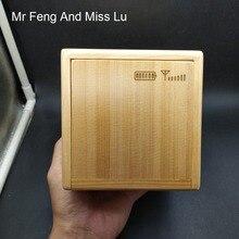 Caja de regalo de madera rompecabezas con mecanismo especial juego moneda hucha