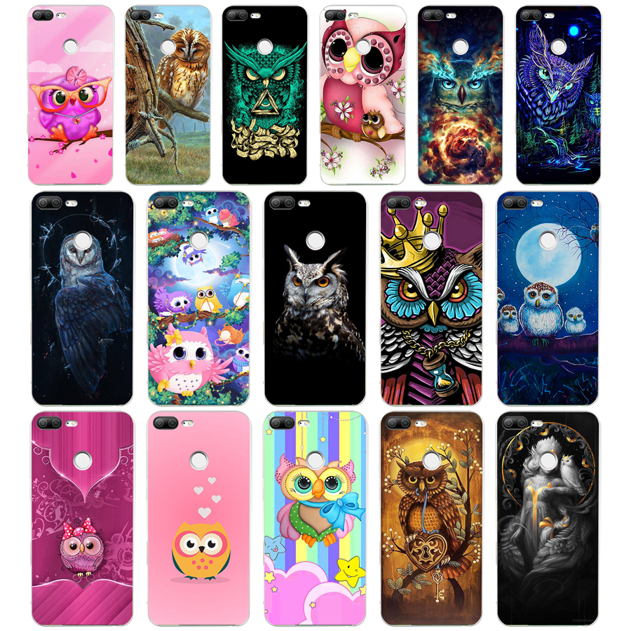 401WE Cute And Stylish Owl Soft Silicone Tpu Cover Phone Case For Huawei Honor 8 9 10 Lite 8X P 8 9 Lite 2017