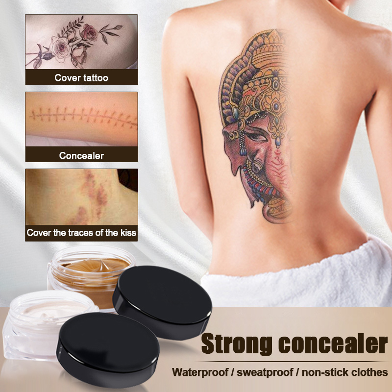 2PCS Universal Waterproof Concealer Moisturizing Cover For Blemish Scar Spot Tattoo SSwell