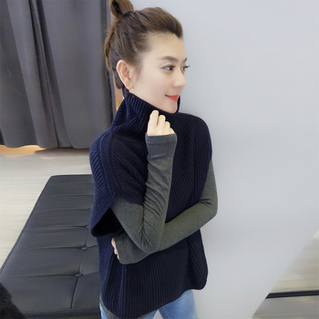 FRSEUCAG High collar cashmere vest ladies knit sleeveless pullover sweater warm and comfortable new hot sale jacket vest 1