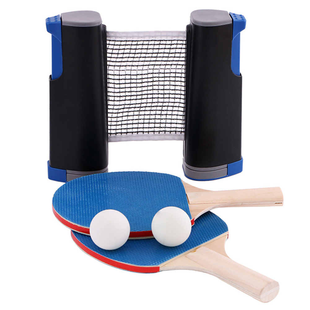 Home Travel Trainning Easy Install Gift Compact Table Tennis Set Sport Paddles Ball Retracted Net Portable Universal Indoor