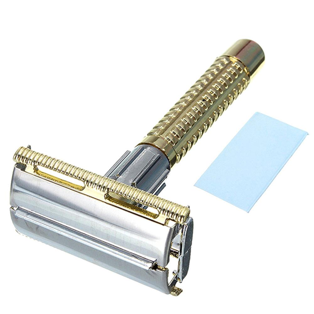 Manual Safety Razor With Shaving Blades Classic Mens Beard Hair Removal Shaving Barber Tools Shaving Razor Shaver For Men Health