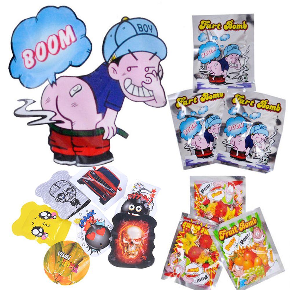 Hot 10pcs/set Halloween Novelty Stinky Gas Fart Bomb Bags Prank Trick Toy Jokes Gadgets Gag Novelty & Gag Toys Children Gifts