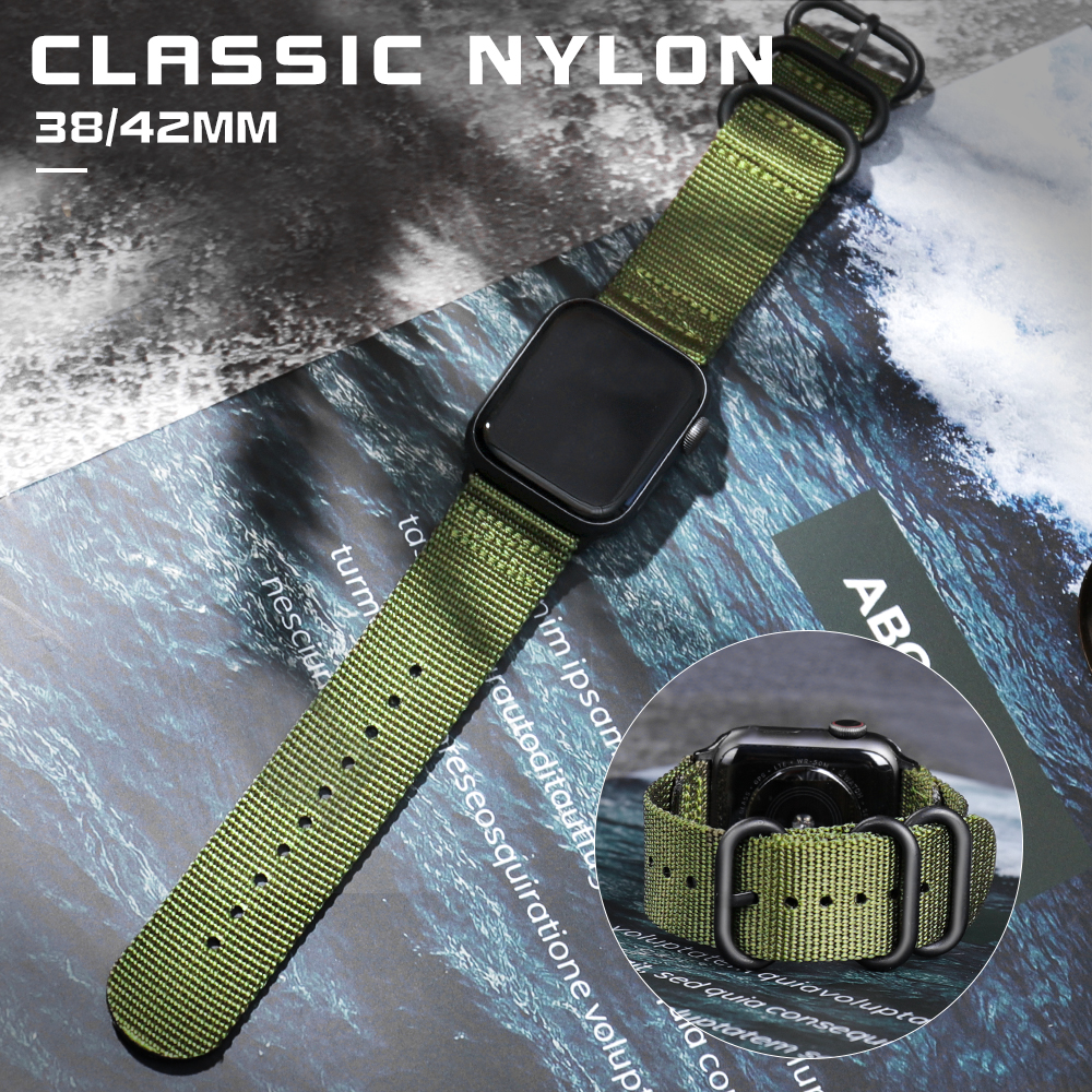 Hot Sell Nylon Watchband For Apple Watch Band Series 4/3/2/1 Sport Bracelet Accessories 42 Mm 38 Mm 40mm 44mm Strap For Iwatch