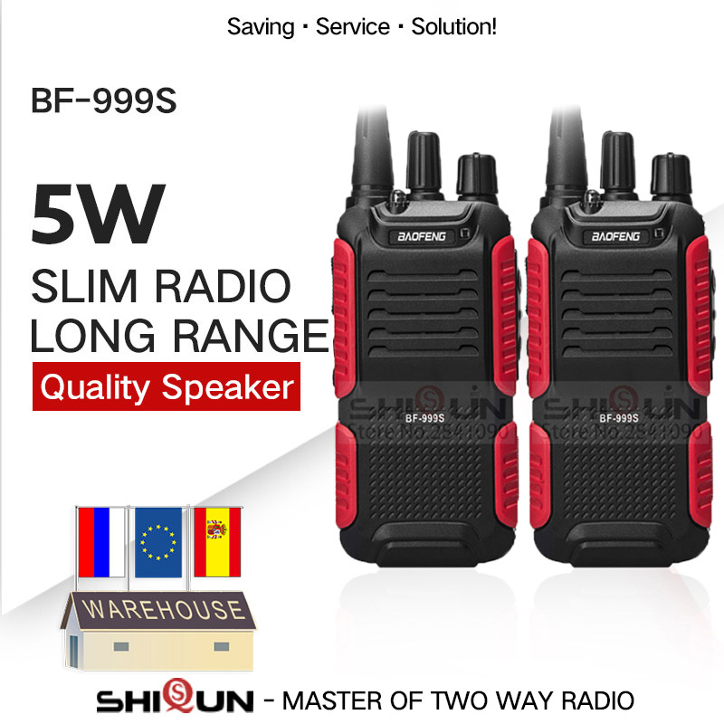 2PCS Baofeng BF-999S Plus Walkies Uhf Band Military Level Two Way Radio Transceiver For Security,hotel,ham BF999s Update Of 888s