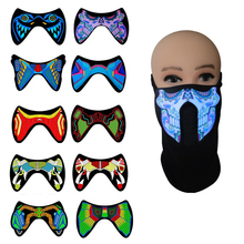 LED Luminous Mask Halloween Festival Party Masks Glow In Dark Flashing Face Mask Party For Halloween Terror Costume glow in the dark halloween jason damaged face mask green
