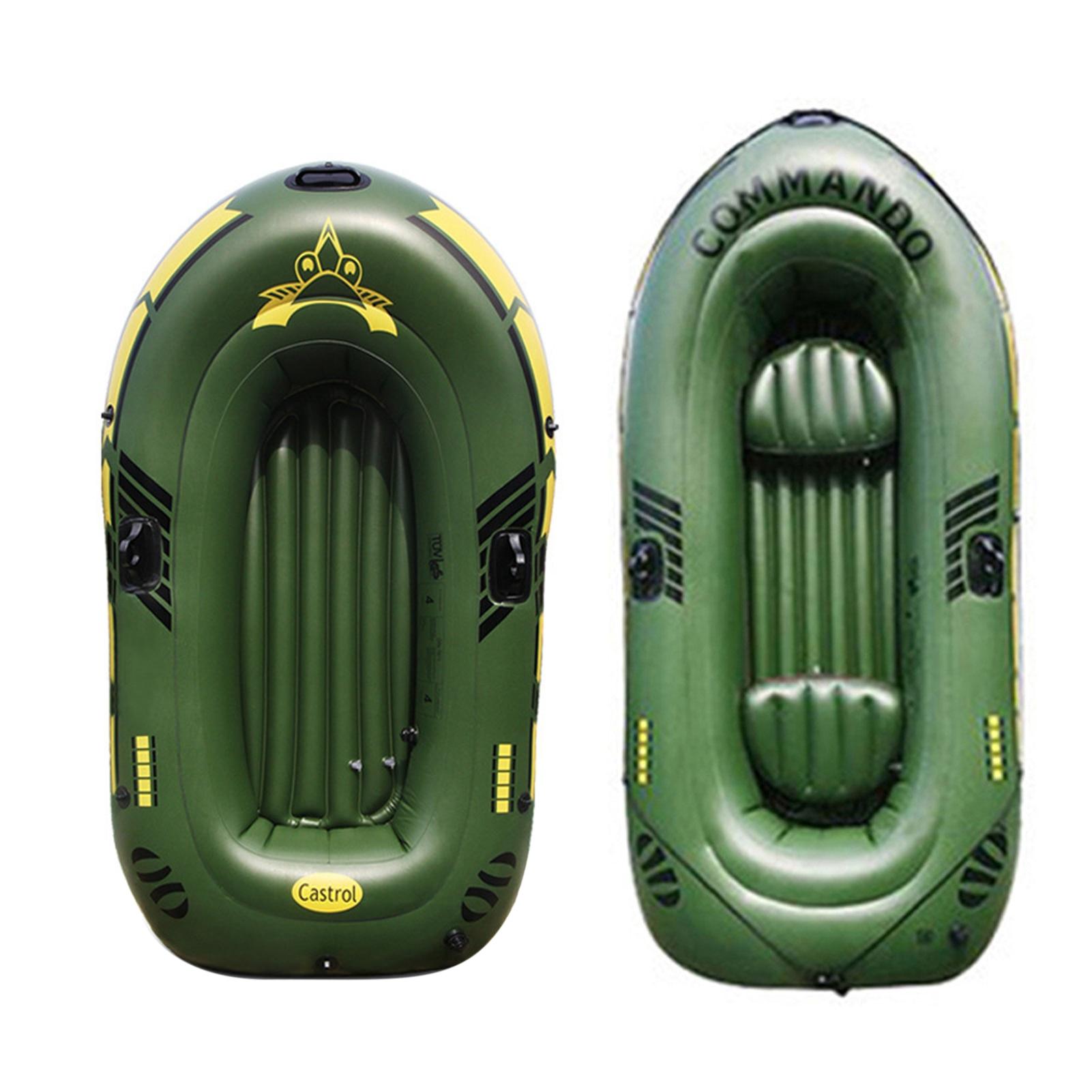 Утолщенная надувная лодка из ПВХ на 2/3 человек, портативная лодка для дрифтинга, байдарка с насосом для весла, лодка для рыбалки, гребли для в...