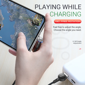 Image 5 - hoco magnetic usb cable for Type C rotatable magnet charger fast charging right angled for Samsung Xiaomi Huawei nylon usb c