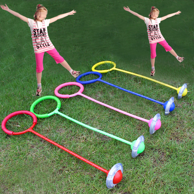 Flashing Skip Ball Jumping Ball Toy For Children Colored Bouncing Juggling Sport Game Kids Outdoor Fun & Sports For Girl Kid