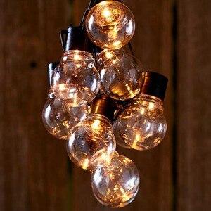 10/20 светодиодный глобусная лампочка свет строка Батарея Мощность свадебная фея гирлянда для рождественской вечеринки светодиодный свет ук...