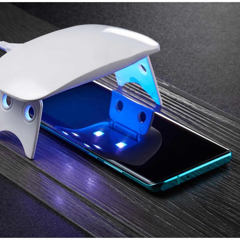 الأشعة فوق البنفسجية السائل الزجاج المقسى ل Xiao mi mi CC9 برو UV السائل نوت 10 واقي للشاشة Xio mi mi CC 9 برو نوت 10 فيلم CC9 برو العالمي