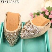 Обувь в Корейском стиле; обувь на плоской подошве с острым носком; женская обувь; стразы; женская обувь; модные лоферы; zapatos comodos de mujer; большие размеры