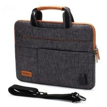 Multifunctional laptop bag  messenger folder with cargo port usb  domiso10  13  14  15.6  17.3
