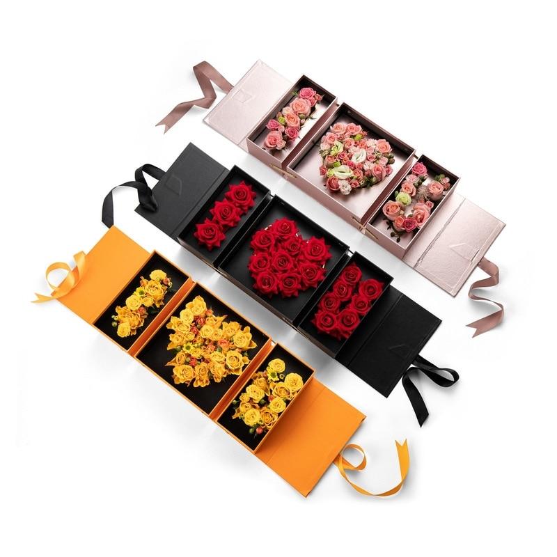 Подарочная бумажная коробка для подарка на свадьбу, День Святого Валентина, цветочная упаковка «I Love You Rose Box»