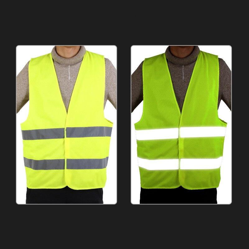 Reflective Vest Traffic Safe Protection Reflective Clothing Safe Highlight Lattice Reflective Vest Customizable Reflective Vest
