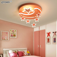 Acrylic LED Chandelier Lights Kids Bed Study Room Iron Base Silicon Dimmable Remote Control Pink White Lighting Lamp Lampadario