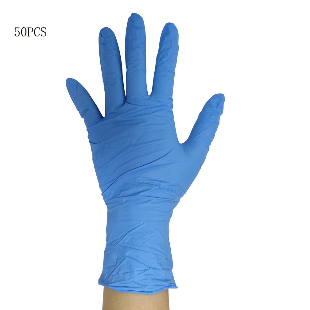 50Pcs Disposable Nitrile Gloves Beauty Tattoo Protective Gloves Labor Insurance Industrial Gloves For Home